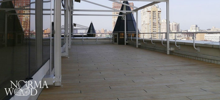 Terrassa made by Accoya. On the roof. Kiev, 2014