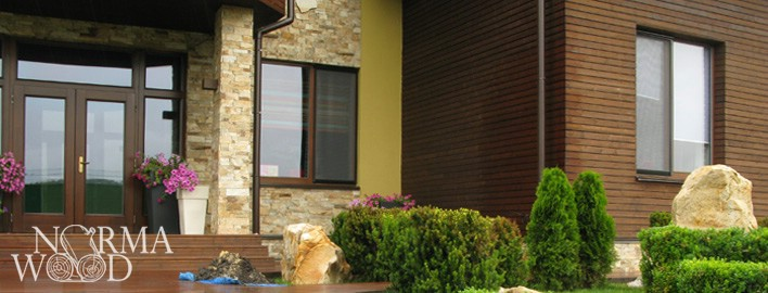 Wooden fronts, planking, siding
